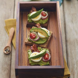 Avocado Pumpernickel Toast