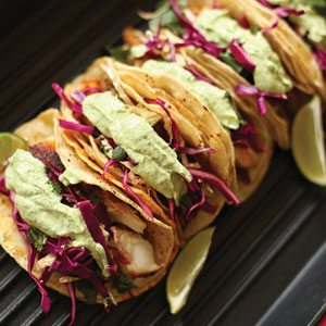 Fish taco recipe using North Shore's herbs. (photo courtesy of North Shore Greenhouses)