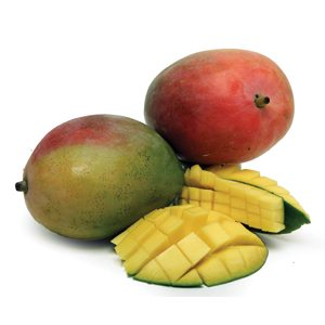 Popular tropical fruit like Mangos