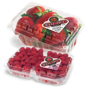selling berries like strawberries and rasberries