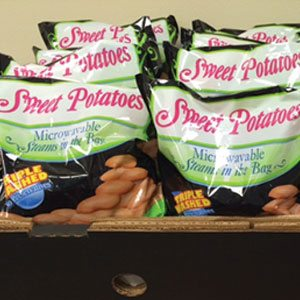 Microwavable Sweet Potatoes