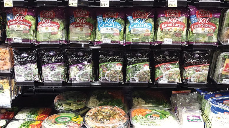 Salad Kits Display Case