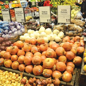 Whole Foods Onion Display