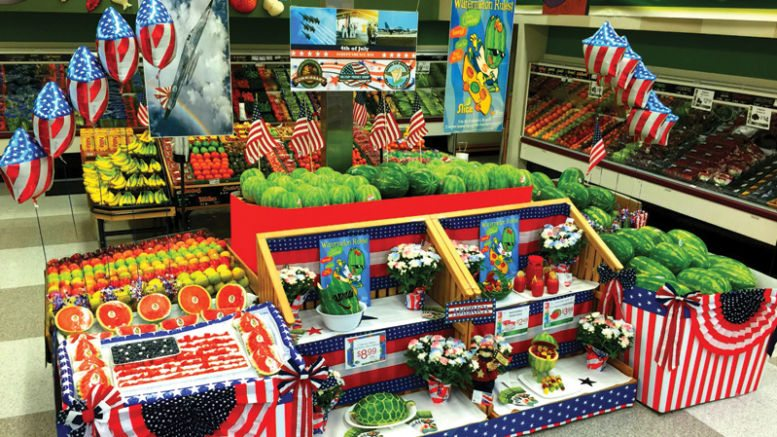 Watermelon Marketing 4th of July Display