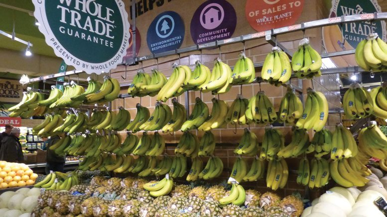 Whole Foods Banana Display