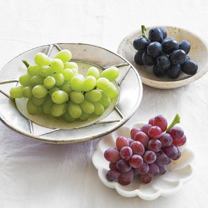 Grape Varieties on Plates