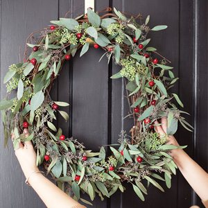Cranberry Wreath